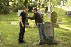 Still of Christian Slater and Rami Malek in Mr. Robot (2015)
