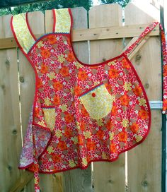 Hot Mama Retro Style Full Apron Plus Size by Aprons2tie4 on Etsy