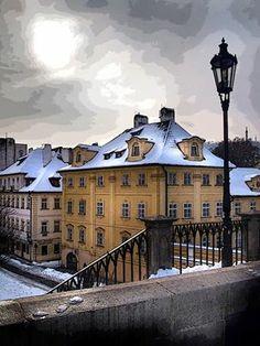 Sníh v Praze-leden 2014