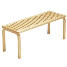 Artek Alvar Aalto Bench These solid birch benches were designed by Alvar Aalto in They are available in two sizes to easily fit in an entryway, create patio seating in a backyard or act as a casual living room table. Selling Furniture, Home Furniture, Furniture Design, Urban Furniture, Contemporary Furniture, Modern Contemporary, Wall Bench, Chair Bench, Alvar Aalto
