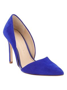 Adelia D'Orsay Pump... The cobalt blue is so vibrant and rich,  and such a flattering sexy cut for the foot!
