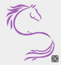 JumpRope Designs Embroidery Design: Horse Outline inches H x inches W Vintage Embroidery, Floral Embroidery, Hand Embroidery, Horse Drawings, Animal Drawings, Machine Embroidery Designs, Embroidery Patterns, Horse Outline, Horse Stencil