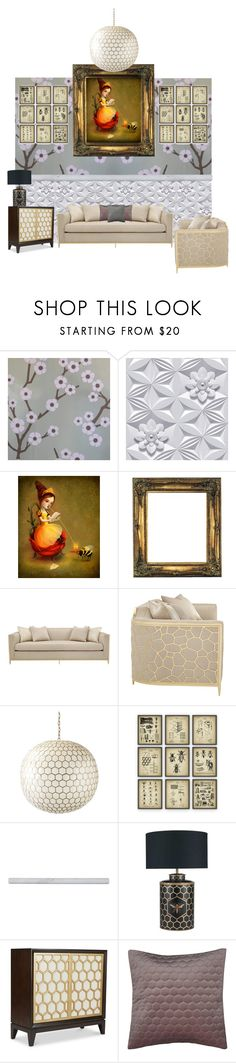 """""""Honeycomb Home"""" by creation-gallery on Polyvore featuring interior, interiors, interior design, home, home decor, interior decorating, Flavor Paper, Graham & Brown, Queen Bee and Serena & Lily"""