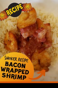 Bacon Wrapped Shrimp Smoker Recipe. Cooking shrimp on the pellet grill is so fast and easy! This easy dinner recipe has tons of amazing flavors, and is quick to smoke on the BBQ. Who says pellet grilling is just for meat and ribs and roasts? This shrimp recipe will convince you that pellet grilling seafood is the best way to cook seafood! #shrimp #BBQ #pelletgrilling Smoker Grill Recipes, Grilling Recipes, Beef Recipes, Potato Recipes, Vegetable Recipes, Bacon Wrapped Shrimp, Grilled Seafood, Bbq Meat, Smoked Chicken
