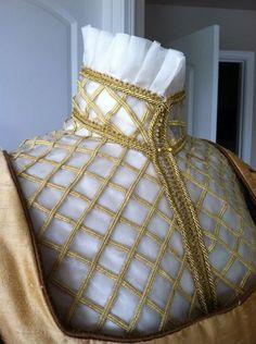 Designs From Time - Historical Costume Designer — Elizabethan Costume: Silk Organza Partlet Costume Renaissance, Renaissance Mode, Renaissance Fashion, Renaissance Clothing, Elizabethan Costume, Elizabethan Fashion, Elizabethan Era, Elizabethan Clothing, Historical Costume