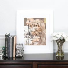 I'll Like You for Always, Quote Art for Mom, Mother of the Groom, Gift from Groom to Mom // Choose Art Print or Canvas // W-Q04-1PS
