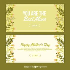 Beautiful Mother's Day banners Free Vector
