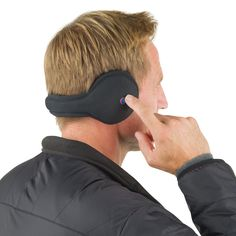 Ear Warmers That Swing And Ring: Bluetooth Ear Muffs    ---  from InventorSpot.com --- for the coolest new products and wackiest inventions.