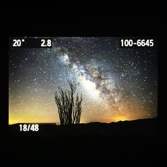 The back of my camera screen...straight out of camera, no photoshop. It looks incredible with the naked eye. #milkyway #astrophotography #astronomy #stars #galaxy