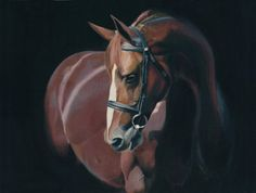 Oil Painting of a horse on 18x24 Stretched by richardromeroart, $180.00