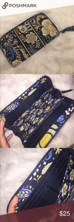 Vera Bradley wallet Navy blue, Royal blue, yellow, off white Bags Wallets