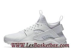 best service 9dd80 386b5 Nike Air Huarache Run Ultra Blanche 819685 101 Chaussures nike Urh Pas cher  Pour Homme - 1702160619