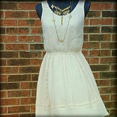 FLASH SALE NWT LC Boho Mini Sleeveless Dress FLASH Sale in my closet! See sign there.  New with tag Lauren Conrad boho chic peasant dress. A gorgeous dress for the summer months ahead. It is a size small. The color is cream blush.  It features Keyhole accents and is lined. The material is rayon and polyester. NWT. Approximate flat measurements are : Bust 16 inches  waist 12 inches  length 34 inches Please note color may vary on individual screens. LC Lauren Conrad Dresses Mini