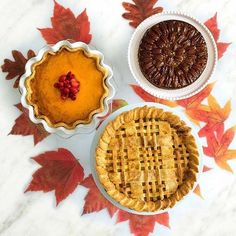 Time for pie! Salted caramel apple pie pumpkin pie and chocolate maple pecan pie! Special order for Thanksgiving from The Inn at Pound Ridge!! #pie #pies #desserts #dessert #thanksgiving #style #instafood #autumn #instadaily
