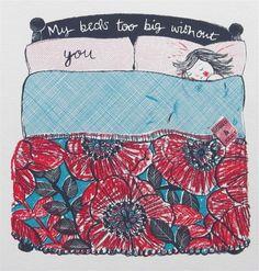 My Bed , screen print by Lisa Stubbs