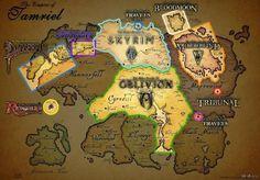 Elder Scrolls Entire Map #gaming #elder #scrolls #entire #entertainment #interesting