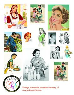 1950s Vintage Housewives Printable