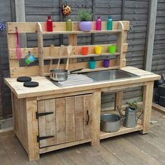 Mud kitchen.