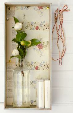 """This decoration idea with wallpaper is from our feature """"Riverside Idyll"""""""