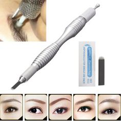 Semi Permanent Makeup Eyebrow Line Tattoo Pen Microblading Pencil Manual Blade Holder