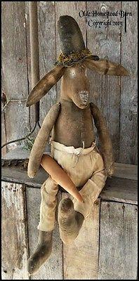 Primitive Bunny Hillbillie Hopper PATTERN OHB