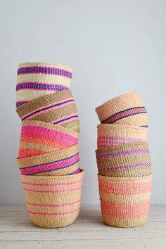 African baskets | pink home storage basket - Decorator's Notebook