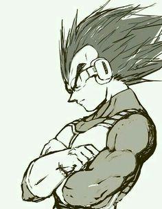Vegeta from the Dragon Ball Z anime Fanart Manga, Manga Anime, Dragonball Super, Vegito Y Gogeta, Dragon Ball Z Shirt, Dragon Z, Vegeta And Bulma, Otaku, Z Arts
