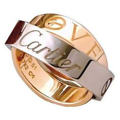"""""""LOVE"""" rings, by Cartier"""