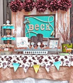 {BN Black Book of Parties} Lil Cowboy Baby Shower | A Blissful Nest