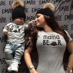 Buy Fashion New Family Summer Little/Mama Bear Pattern Family T Shirt Mom Daughter Son Clothes Top Tee Family Matching Outfits at Wish - Shopping Made Fun Bear T Shirt, Pregnant Mom, First Time Moms, Baby Boy Fashion, Mom And Baby, Matching Outfits, Baby Boy Outfits, Family Outfits, New Baby Products
