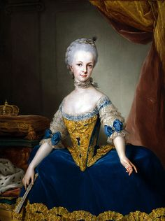 Maria Josepha, Archduchess of Austria; by Anton Raphael Mengs, c. 1767. Her father was Francis I, Holy Roman Emperor.