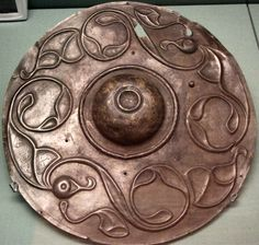Wandworth Shield discovered in the Thames, London in 1859. Estimated to have been made ca. 2nd century BC. F.S. Lewis