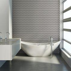 Rasch paillettes hexagone en nid d/'abeille salle de bain cuisine Papier peint vinyle noir blanc