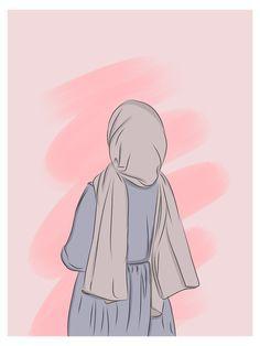 Cartoon Girl Images, Cartoon Girl Drawing, Cartoon Art Styles, Girl Cartoon, Hijab Drawing, Islamic Cartoon, Hijab Cartoon, Cute Girl Wallpaper, Cute Cartoon Wallpapers