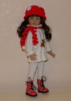 Let Is Snow Knit Outfit for Dianna Effner Little Darling 13 034 | eBay. BIN for $47.00