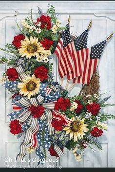 Patriotic Crafts, July Crafts, Summer Crafts, Patriotic Wreath, Fourth Of July Decor, 4th Of July Decorations, 4th Of July Wreath, July 4th, Diy Fall Wreath