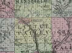 Large Map 1912 Cattaraugus County NY Map New by OldMapsandPrints