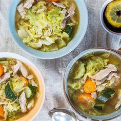 Try this Chicken Tinola recipe by Chef Jasmine and Melissa Hemsley . This recipe is from the show Hemsley   Hemsley - Healthy