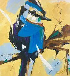 Original Paul van Rensburg: Acrylic on Stretched Canvas Size: X Stretched Canvas, Blue Bird, Canvas Size, New Art, Van, The Originals, Anime, Painting, Painting Art