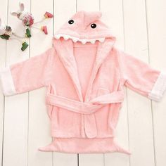 Amazing Pink Cute Designs Hooded Animal modeling Baby Bathrobe/Cartoon Towel/Character kids bath robe/infant bath towels Cute