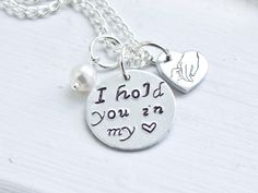 I hold you in my heart  I carry you with me  by RachelleismsShop