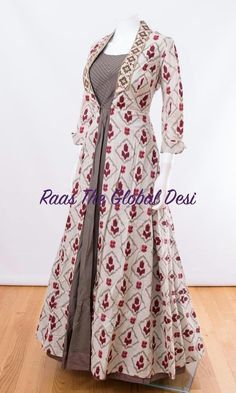 & GOWN-Raas The Global Desi-[wedding_suits]-[indian_dresses]-[gown_dress]-[indian_clothes]-Raas The Global Desi Stylish Dresses, Casual Dresses, Fashion Dresses, Fashion Hats, Fashion 2018, Emo Fashion, Modest Fashion, High Fashion, Fashion Accessories
