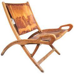 """1950s Folding Beech Chair """"Ninfea"""" by Gio Ponti"""