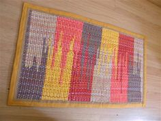 Clasped weft rug - from our  Weaving Today Gallery - love the colors.  made on RHL