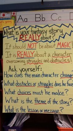 What is your fantasy story really about?? Writing workshop