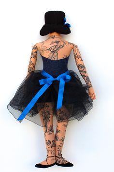 Tattooed dancer   Mimi Kirchner