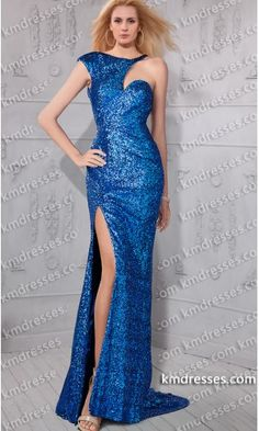 super sexy cut out slit cap sleeve open back sequin gown