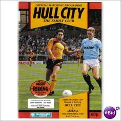 Hull City v Arsenal 1988/89 League Cup Football Programme