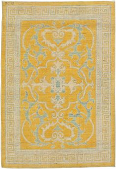 """Traditional Oriental Inspired Rug Size: 4'4"""" x 2'10"""" A traditional inspired oriental rug hand Knotted wool. Price: $2,000"""