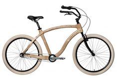 Beach Cruiser AMBRE – Materia Bikes Velo Beach Cruiser, Cruiser Bikes, Beach Frame, Bike Frame, Front Brakes, Wood Texture, Frame Sizes, Wooden Frames, Blue Sapphire